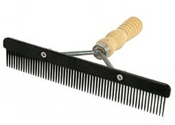 Plastic Show Comb Wood Handle